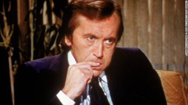 British broadcaster David Frost, best known for his series of interviews with former U.S. President Richard Nixon in 1977, died August 31. He was 74.