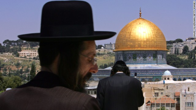Ultra-Orthodox Jews look out over the Dome of the Rock. Israel took control of the eastern part of the ancient city in 1967 and considers Jerusalem its capital, but the international community doesn't recognize its claim of sovereignty over East Jerusalem. Palestinians maintain the eastern part of Jerusalem should serve as the capital of a future Palestinian state.