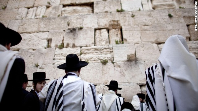 Jewish men attend the Kohanim prayer, or priest's blessing, for Passover in April 2011. The city has its own medical condition, Jerusalem Syndrome. Around 100 tourists each year succumb to the psychiatric disorder linked to the city's atmosphere of intensity.