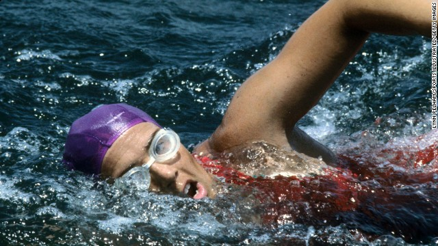 Diana Nyad swims along Florida's Gold Coast in July 1978. On her fifth attempt, Nyad, now 64, became <a href='http://www.cnn.com/2013/09/02/world/americas/diana-nyad-cuba-florida-swim/index.html'>the first person to swim the 103 miles from Cuba to Florida</a> without a shark cage. The endurance swimmer achieved her lifelong ambition of conquering the Straits of Florida on Monday, September 2, after four earlier setbacks.