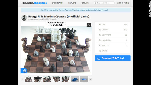 "Why use traditional chess pieces when you can print ""Game of Thrones"" characters instead?"