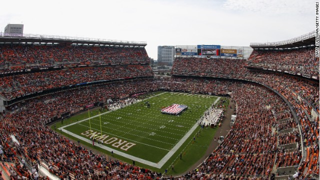 Verizon installed a new antenna system and AT&T updated its tower this year to improve wireless services at FirstEnergy Stadium, home of the Cleveland Browns.