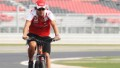 YEONGAM-GUN, SOUTH KOREA - OCTOBER 21: ER 21: ER 21: ER 21: Fernando Alonso of Spain and Ferrari rides the track on a mountain bike during previews to the Korean Formula One Grand Prix at the Korea International Circuit on October 21, 2010 in Yeongam-gun, South Korea. (Photo by Mark Thompson/Getty Images)