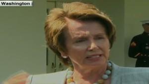 House Minority Leader Nancy Pelosi backs Obama on Syria