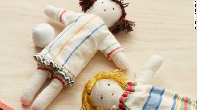 Devote scraps to small projects, like stuffed dolls, and doll clothes.