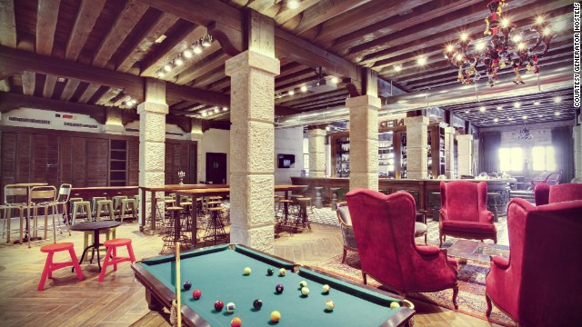 This high-style hostel has loads of character and plenty of history -- with original wooden beams, worn metals and cozy seating.