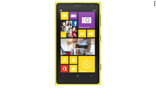Nokia Lumia 1020, announced in 2013. The Lumia range, which now includes half a dozen handsets, is still a minnow in the smartphone world in terms of market share, but it is slowly gaining traction.