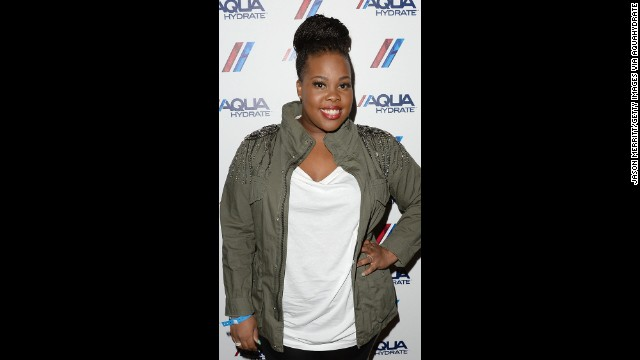 "Actress Amber Riley, seen here in July at the Staples Center in Los Angeles found fame on ""Glee."""