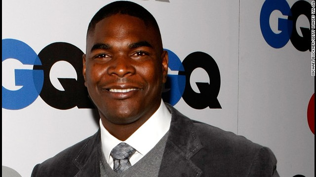 Former football player Keyshawn Johnson arrives at the GQ Men of the Year party in Los Angeles in 2008.