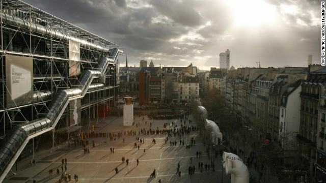 The Centre Pompidou opened in 1977 and is home to France's museum of modern art. It is closely associated with the national public information library.