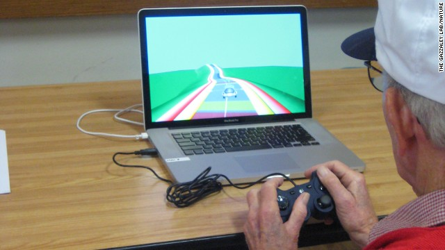 Video game may help aging brain