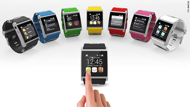 The Italian-made aluminum 'I'm Watch,' announced at the 2013 Consumer Electronics Show (CES), is one of the pricier options at $399. It comes in seven colors and runs the Droid 2 operating system. It connects to Android smartphones using Bluetooth.