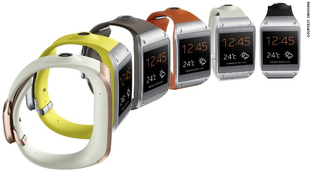 Samsung's Galaxy Gear smartwatch has a 1.6-inch display, low-res camera, 4GB of storage and comes in six colors.