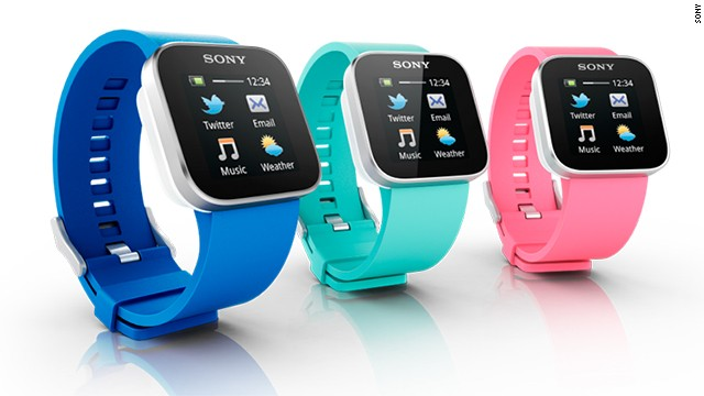 Another full-color touchscreen device, the $130 Sony SmartWatch only syncs with Android devices. When paired with a phone over Bluetooth, it can receive notifications for e-mail, texts, social networks and calendars.