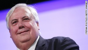 Founder of the Palmer United Party, Clive Palmer.