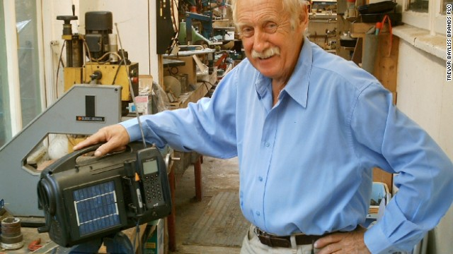 British inventor Trevor Baylis invented a wind-up radio after watching a TV program highlighting the HIV/AIDS epidemic in Africa.