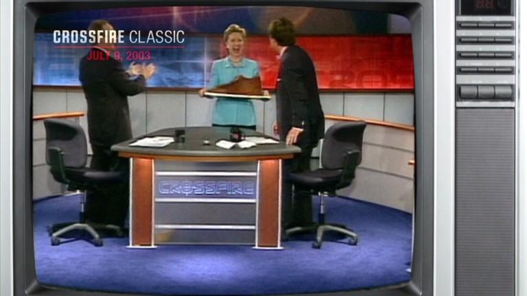Crossfire classic tucker carlson eats hillary clinton 39 s for Classic story adobe