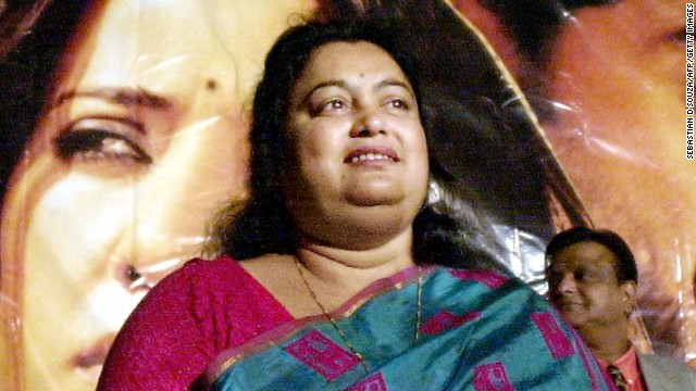 Sushmita Banerjee at a news conference in 2002, announcing a film based on her life story,