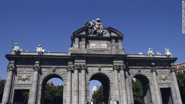 Madrid wants to bring the Olympic Games to Spain for only the second time. The Puerta de Alcala has been chosen as the landmark most associated with the bid. If Madrid gets the green light a party will be held at the historic monument.