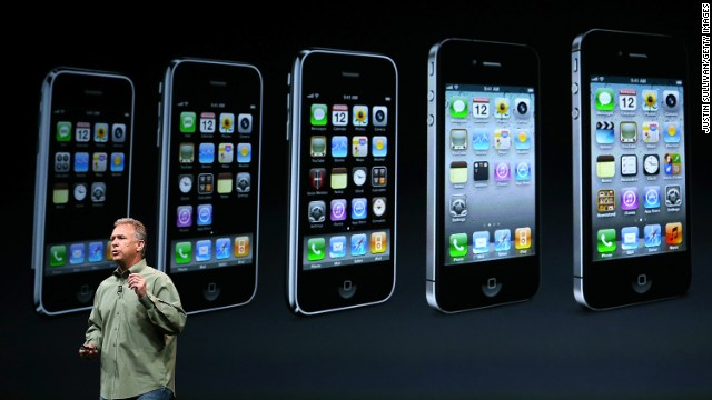 Apple marketing chief Phil Schiller announced the iPhone 5 on September 12, 2012, in San Francisco. The new model featured a slightly larger screen and a new connector for charging the battery.