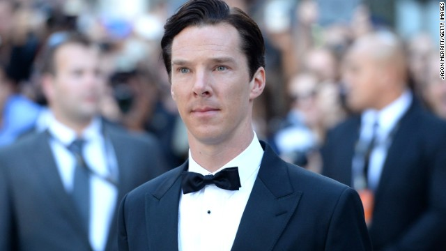 """Actor Benedict Cumberbatch arrives at """"The Fifth Estate"""" premiere during the film festival on Thursday, September 5."""