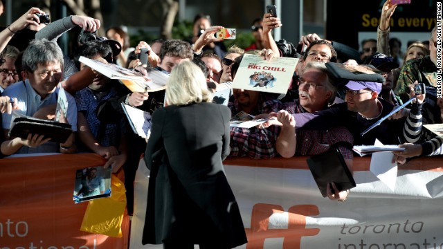 """Actress Glenn Close arrives at """"The Big Chill"""" 30th anniversary screening at the Princess of Wales Theatre on September 5."""