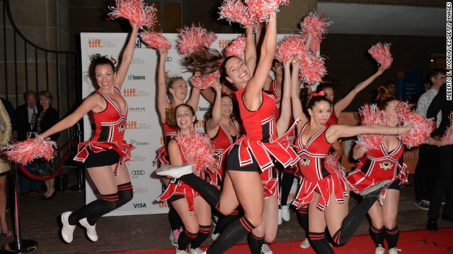 """The """"All Cheerleaders Die"""" premiere at the Ryerson Theatre featured its own cheer team."""