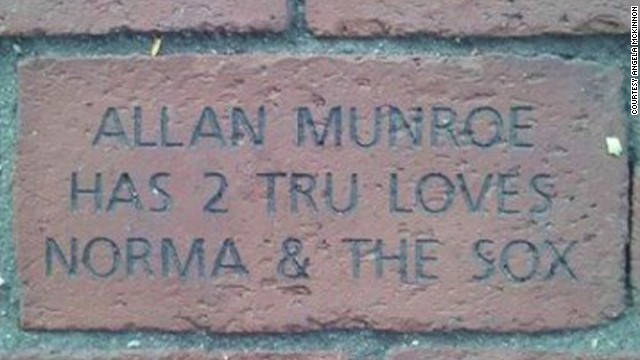 Allan Munroe has a commemorative brick at Fenway Park.
