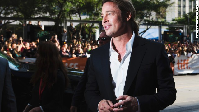 """Actor Brad Pitt arrives for the screening of the film """"12 Years a Slave"""" at the film festival on Friday, September 6."""