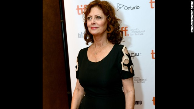 """Actress Susan Sarandon appears at """"The Last Of Robin Hood"""" premiere during the festival at Isabel Bader Theatre on September 6."""