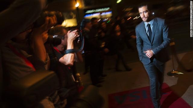 """Actor Jake Gyllenhaal arrives for the """"Prisoners"""" screening on September 6."""