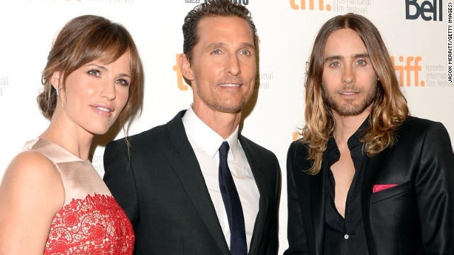 """Actors Jennifer Garner, Matthew McConaughey and Jared Leto arrive at the """"Dallas Buyers Club"""" premiere on September 7."""