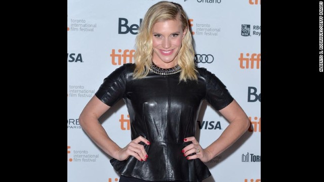 """Actress Katee Sackhoff attends the """"Oculus"""" premiere on September 8."""