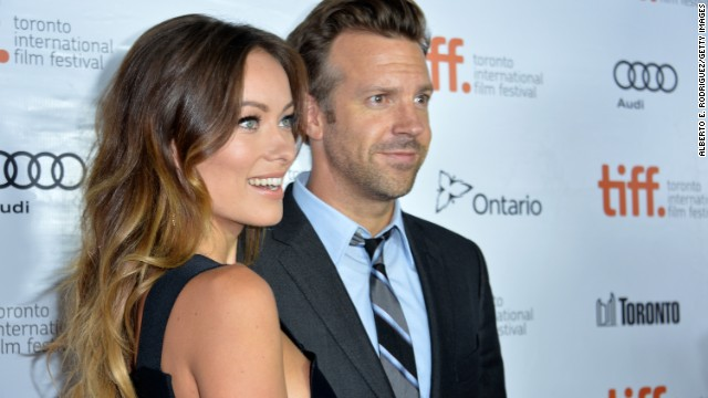 """Actors Olivia Wilde and Jason Sudeikis attend the """"Rush"""" premiere on September 8."""