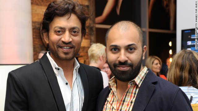 Irrfan Khan, left, and Ritesh Batra appear at Guess Portrait Studio on September 7.