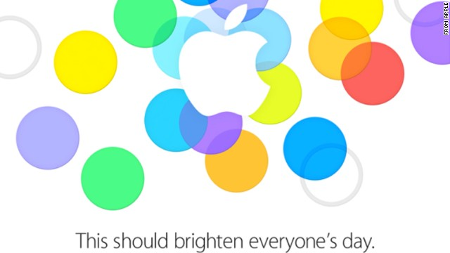 Apple included this image in the media invite for its September 10, 2013, press event. Most observers expect the company to unveil an upgraded iPhone, possibly called the iPhone 5S, and a cheaper model as well.