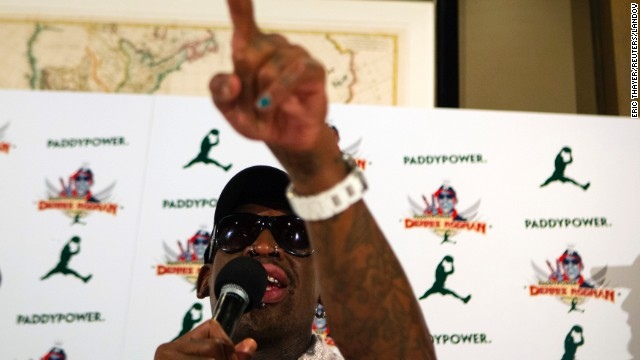 "Addressing comments to President Obama, Rodman asks why Obama is afraid to talk to him. ""You're not afraid to talk to Beyonce and Jay-Z, why not me?"""