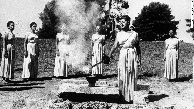 September 22, 1964: During the ancient ceremony at Olympia, Greek actress Aleca Katseli, lights the Olympic torch which will be carried to Tokyo by a relay of runners. <a href='http://cnn.com/2013/09/07/sport/world-olympics-2020/?hpt=isp_c1'>Tokyo has been chosen by the International Olympic Committee</a> to host the 2020 Summer Games. We revisit the Games hosted by Japan in 1964.