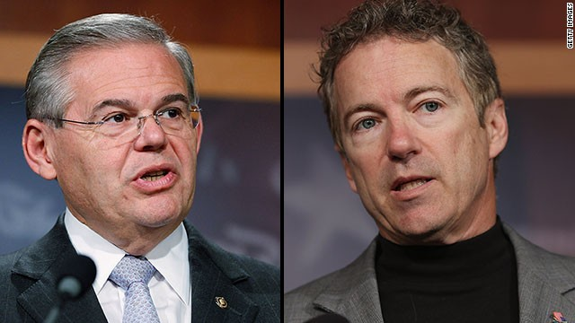 Live blog: Paul and Menendez in the Crossfire