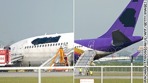 No logo ... Thai Airway\'s attempts at anonymity appear instead to have garnered it worldwide media attention.