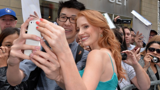 """Jessica Chastain arrives for the premiere of the two-part film """"The Disappearance of Eleanor Rigby"""" on Monday, September 9."""