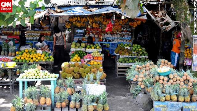 "Ronald de Jong photographed roadside fruit vendors in Tupi, Philippines. He says the town is known as the ""fruits, flowers and vegetables basket of the South."""