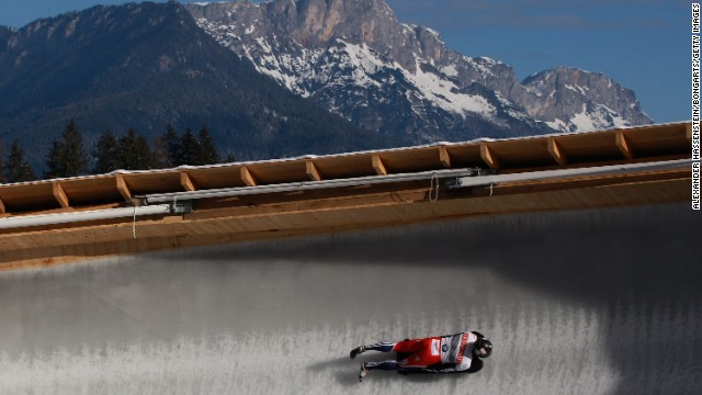 Bromley flies around the course in Koenigssee, Germany, his skeleton pulling 5G in the quickest parts of the circuit.