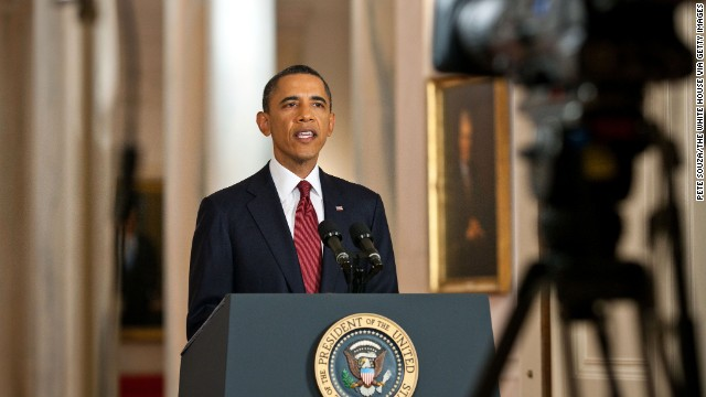 President Barack Obama will address the nation from the East Room of The White House.