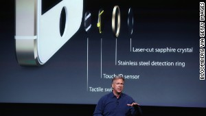 Apple marketing director Phil Schiller explains Touch ID, the iPhone 5S\'s fingerprint-reading security tool.
