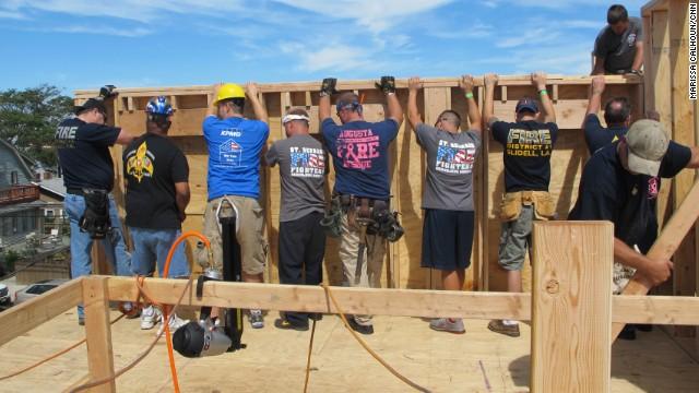 Last weekend, more than 300 volunteers helped rebuild 13 New York homes damaged by Superstorm Sandy.