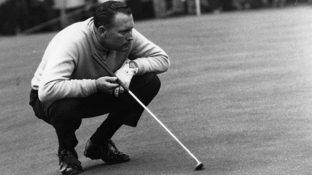 With three major titles, including the 1966 U.S. Open, where he is pictured here, Casper won a total 51 PGA Tour tournaments and became the second golfer to earn seven figures in prize money after Arnold Palmer.