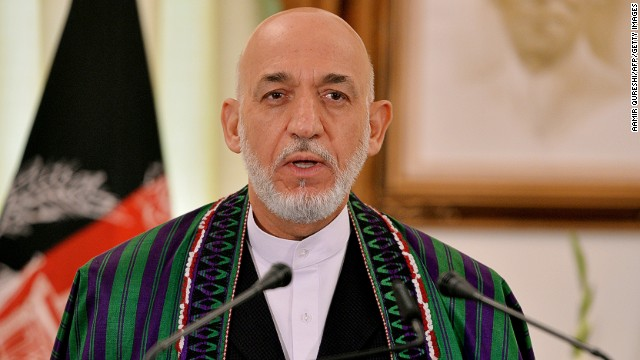 Afghan President Hamid Karzai is shown at the prime minister's house in Islamabad on August 26.
