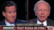 Santorum vs. Lieberman: Trust Russia on Syria?