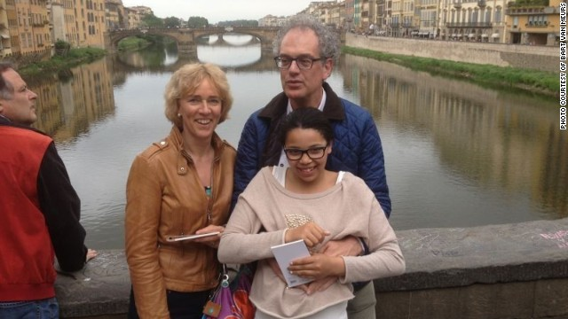The van Meurs on Florence's Ponte Vecchio during a family vacation earlier this year in Italy.